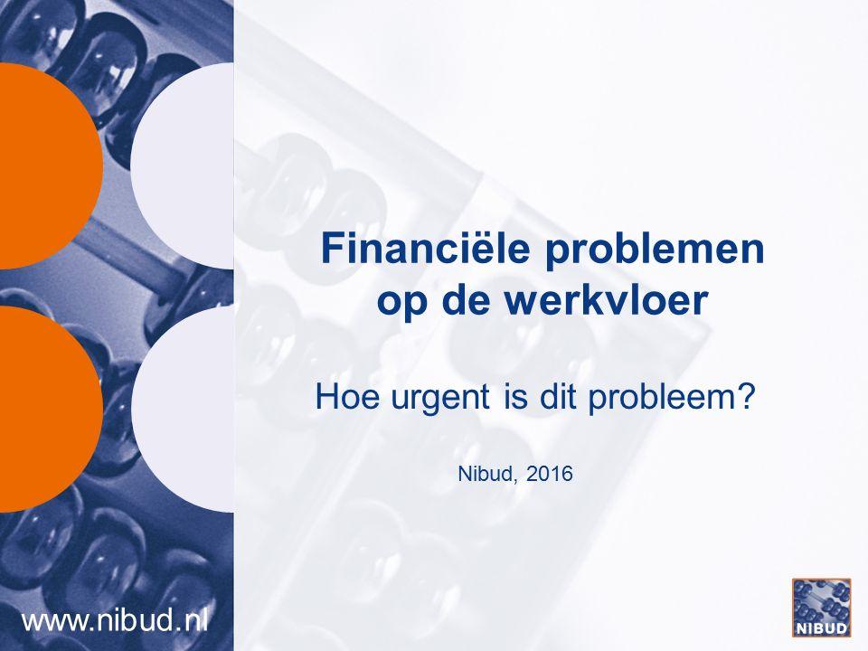 www.nibud.nl Financiële problemen op de werkvloer Hoe urgent is dit probleem? Nibud, 2016