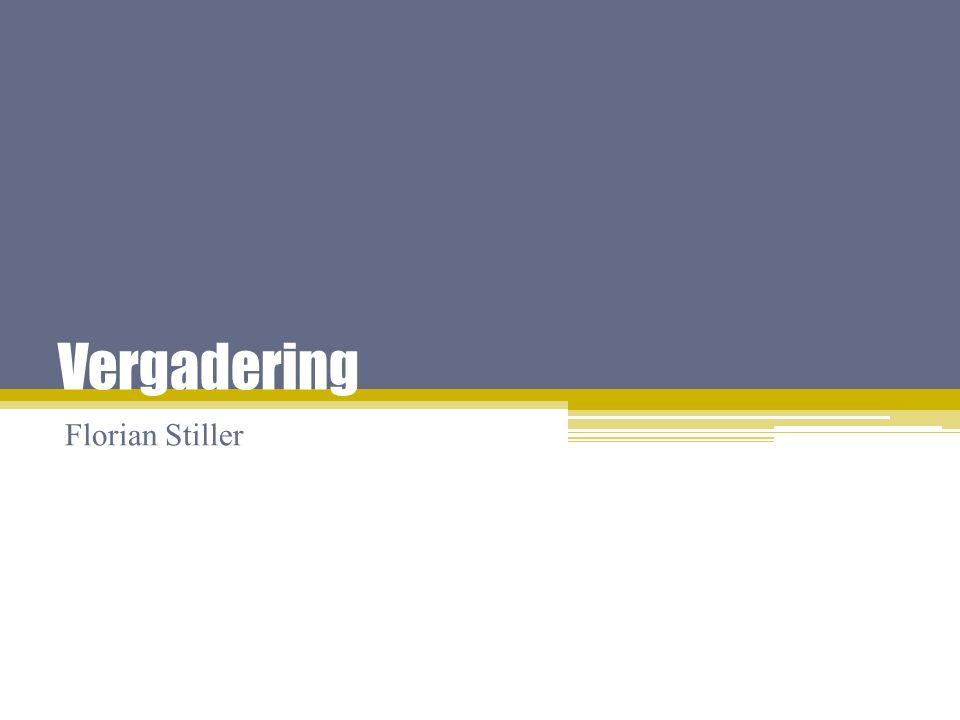 Vergadering Florian Stiller