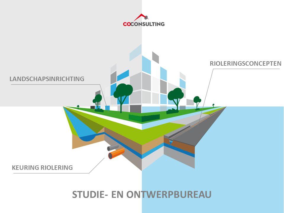 STUDIE- EN ONTWERPBUREAU LANDSCHAPSINRICHTING RIOLERINGSCONCEPTEN KEURING RIOLERING