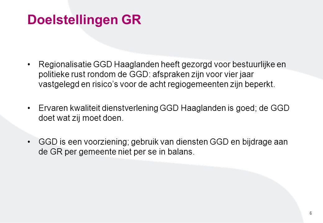 Doelstellingen GR Regionalisatie GGD Haaglanden heeft gezorgd voor bestuurlijke en politieke rust rondom de GGD: afspraken zijn voor vier jaar vastgel