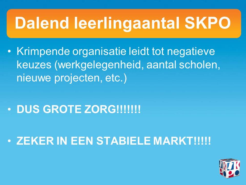 Krimpende organisatie leidt tot negatieve keuzes (werkgelegenheid, aantal scholen, nieuwe projecten, etc.) DUS GROTE ZORG!!!!!!.