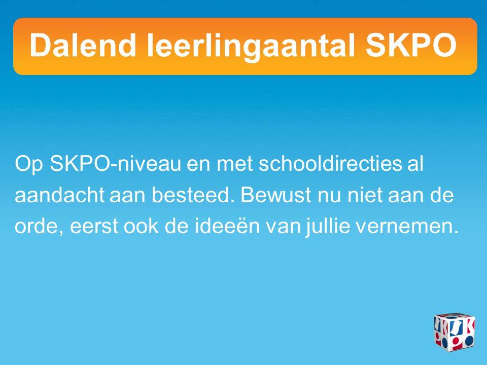 Op SKPO-niveau en met schooldirecties al aandacht aan besteed.