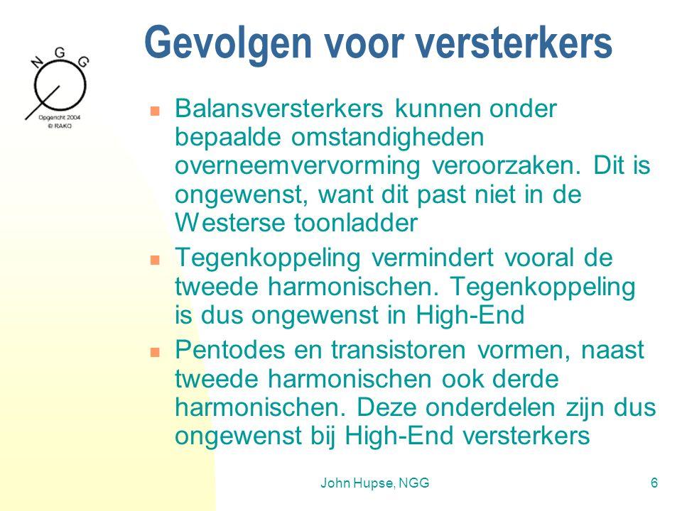 John Hupse, NGG6 Gevolgen voor versterkers Balansversterkers kunnen onder bepaalde omstandigheden overneemvervorming veroorzaken.