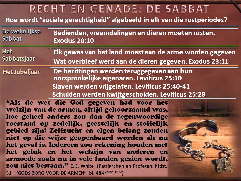 De Sabbat vertelt ons dat God de Schepper, de Gever is van rust aan iedereen die op deze aarde leeft.