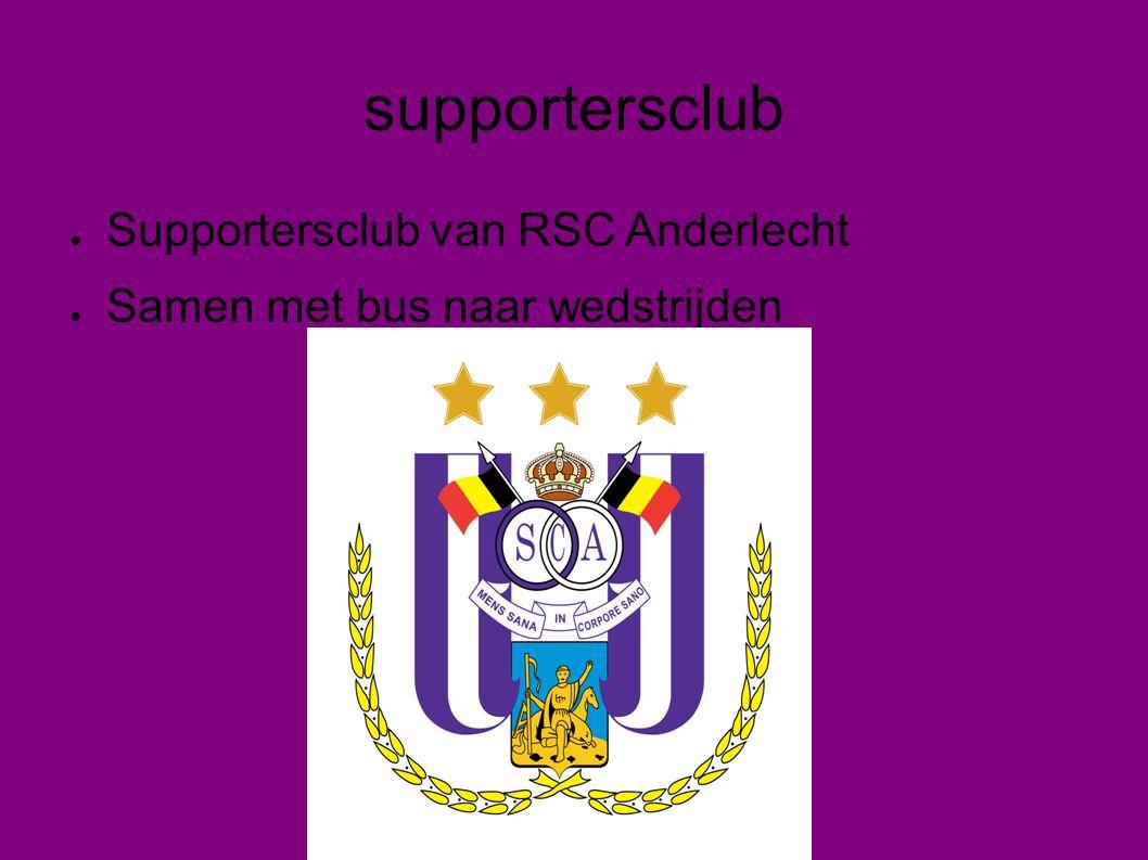 Leden supportersclub ● Op wedstrijddagen kunnen leden voor vertrek samen eten en iets drinken