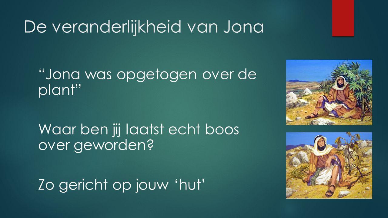De veranderlijkheid van Jona Jona was opgetogen over de plant Waar ben jij laatst echt boos over geworden.