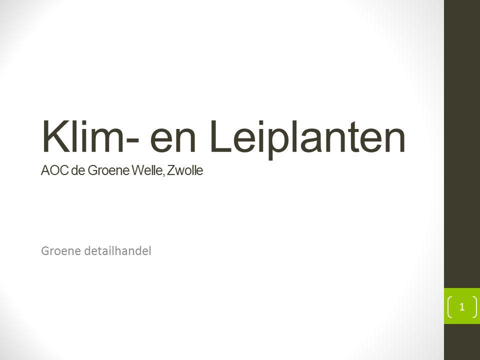 Klim- en Leiplanten AOC de Groene Welle, Zwolle Groene detailhandel 1