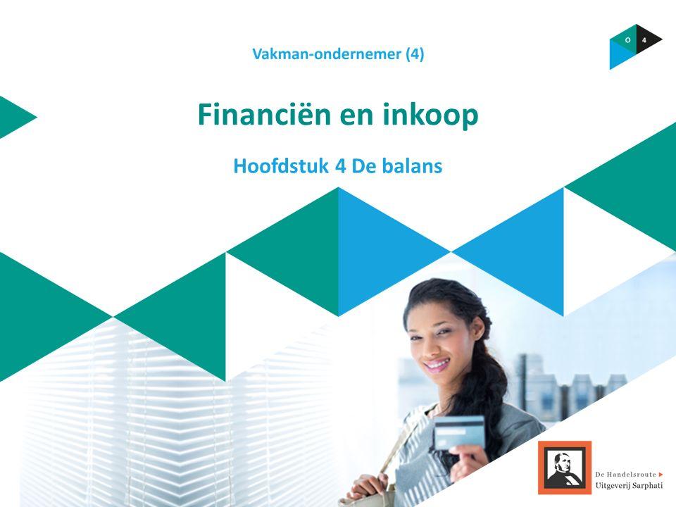 Financiën en inkoop Hoofdstuk 4 De balans