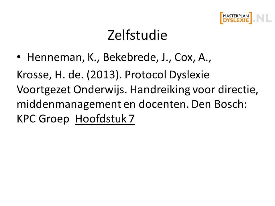 Zelfstudie Henneman, K., Bekebrede, J., Cox, A., Krosse, H.