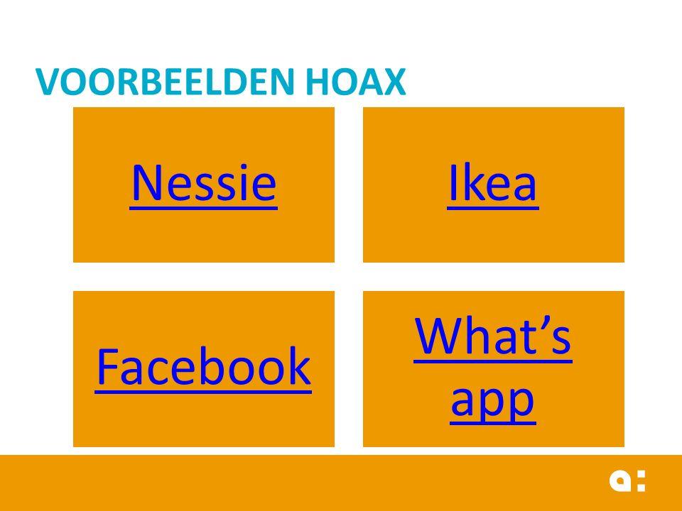 NessieIkea Facebook What's app VOORBEELDEN HOAX