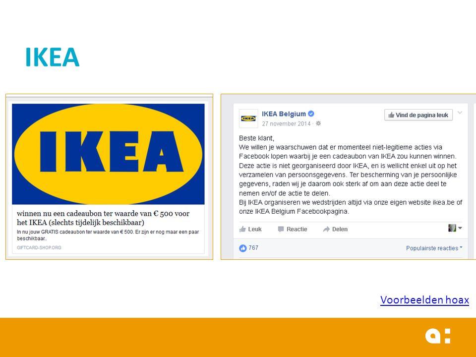 IKEA Voorbeelden hoax