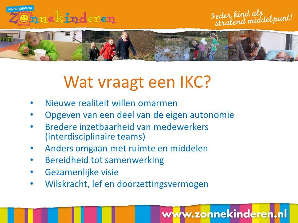 Wat vraagt een IKC.