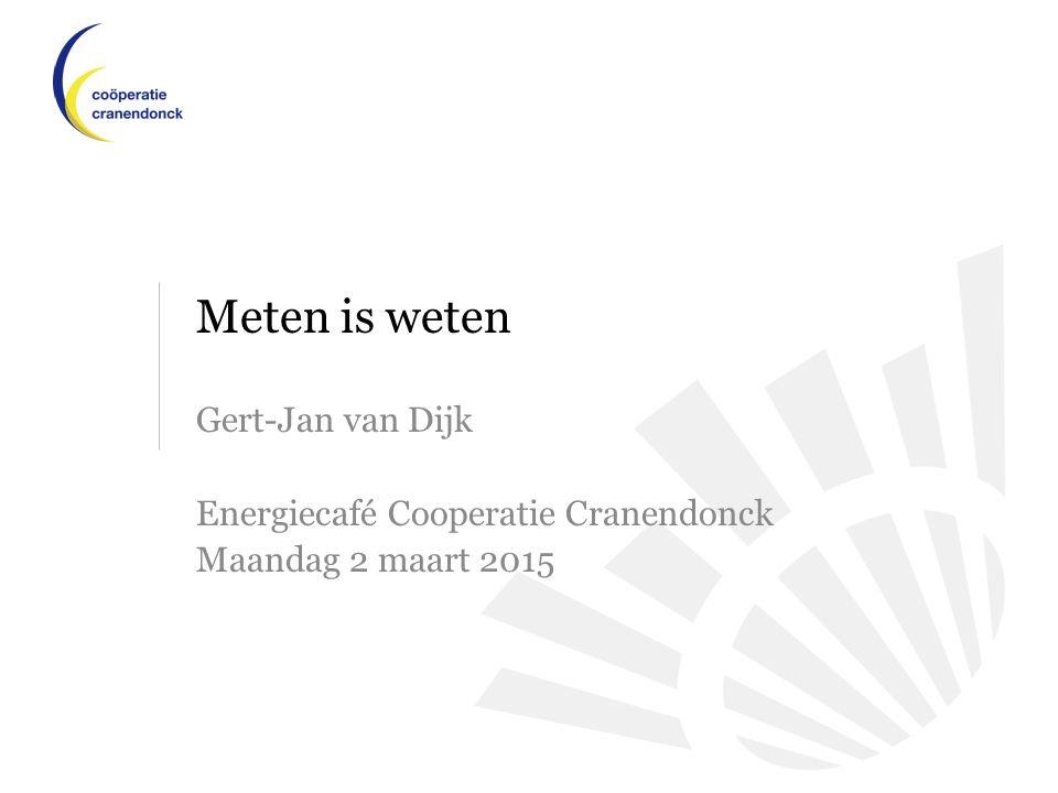 Meten is weten Gert-Jan van Dijk Energiecafé Cooperatie Cranendonck Maandag 2 maart 2015