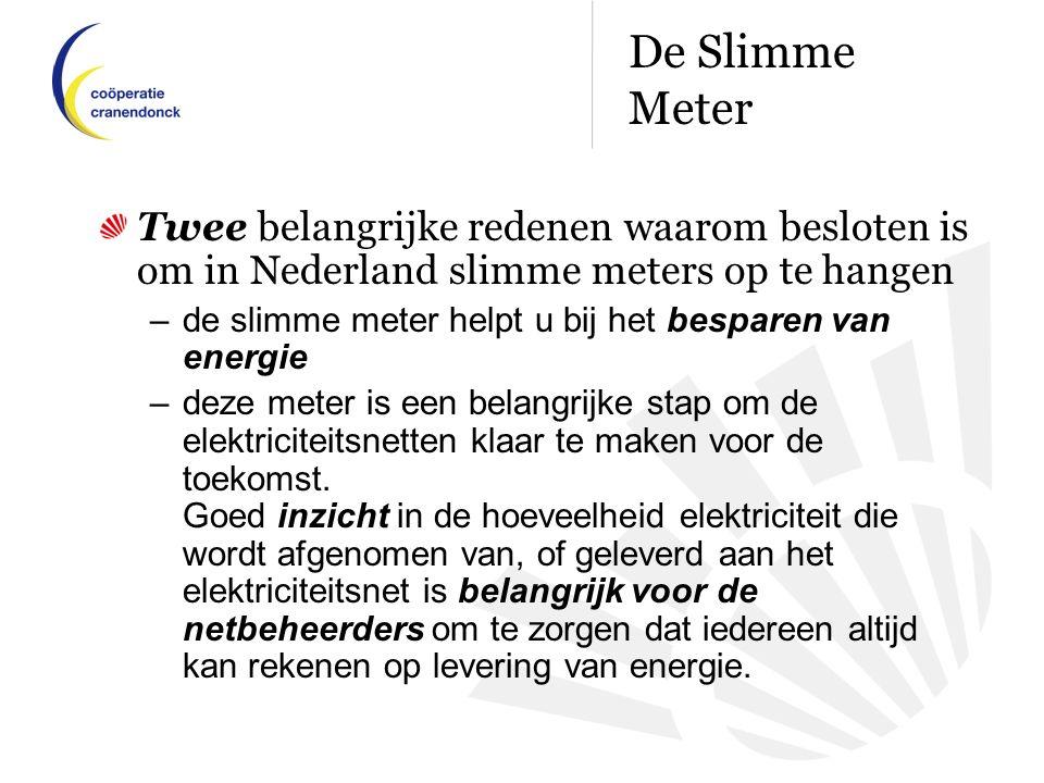 Twee belangrijke redenen waarom besloten is om in Nederland slimme meters op te hangen – de slimme meter helpt u bij het besparen van energie –deze meter is een belangrijke stap om de elektriciteitsnetten klaar te maken voor de toekomst.