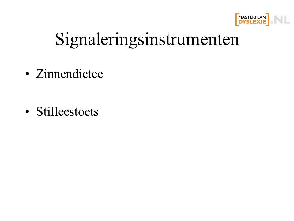 Signaleringsinstrumenten Zinnendictee Stilleestoets
