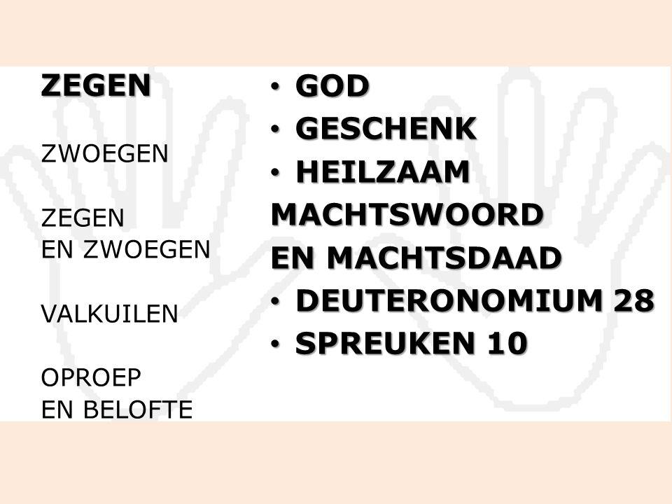 ZEGEN GOD GOD GESCHENK GESCHENK HEILZAAM HEILZAAMMACHTSWOORD EN MACHTSDAAD DEUTERONOMIUM 28 DEUTERONOMIUM 28 SPREUKEN 10 SPREUKEN 10 ZWOEGEN ZEGEN EN