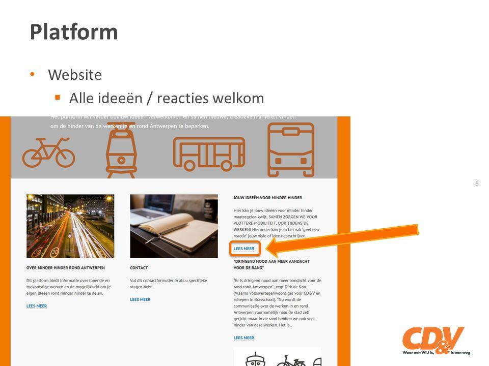Platform 8 Website  Alle ideeën / reacties welkom