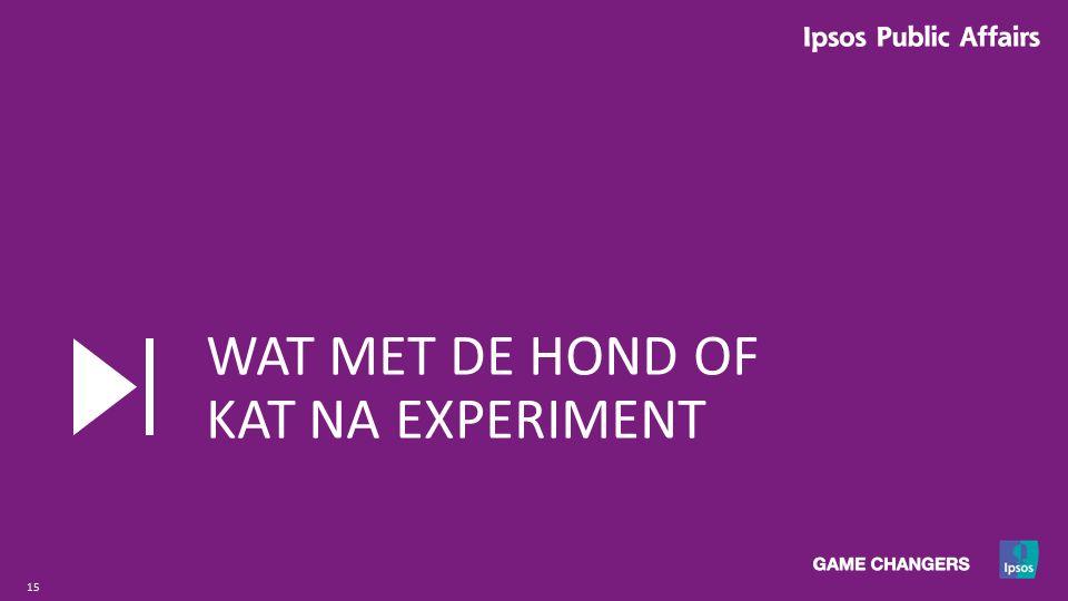 15 WAT MET DE HOND OF KAT NA EXPERIMENT