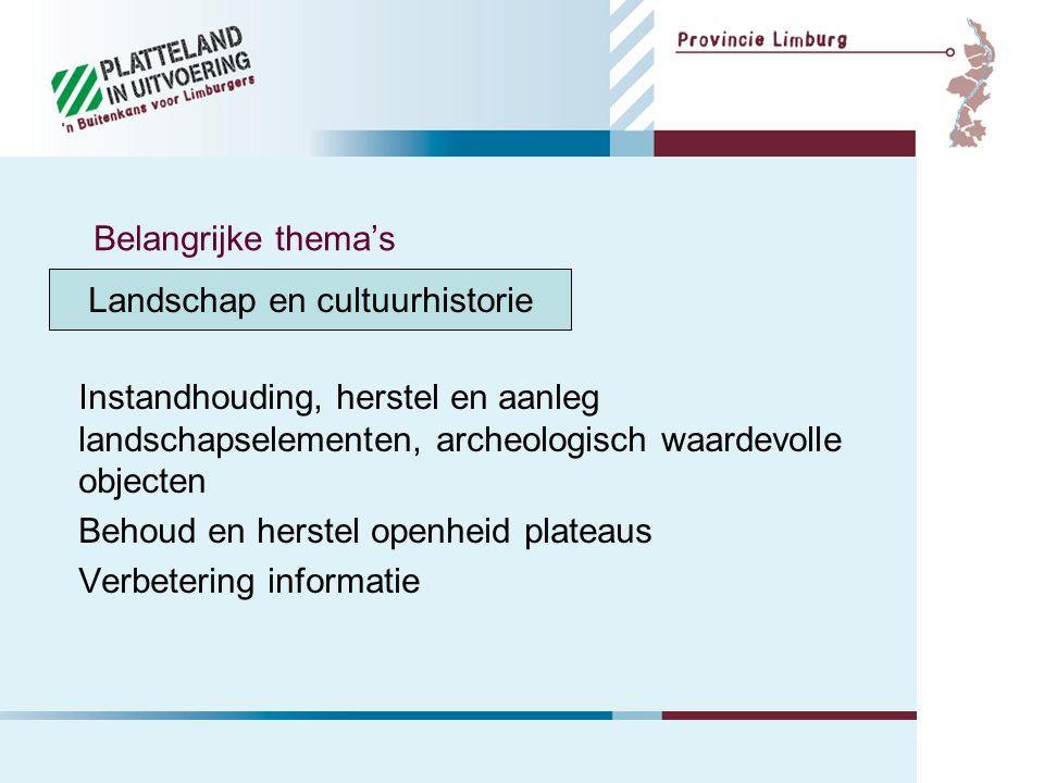 Water Beekherstel Verdrogingsbestrijding Erosiebestrijding Belangrijke thema's