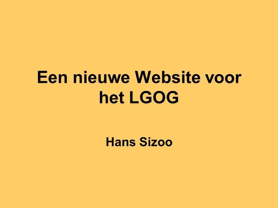 Een nieuwe Website voor het LGOG Hans Sizoo