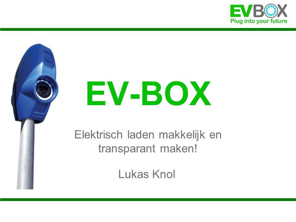 EV-BOX Elektrisch laden makkelijk en transparant maken! Lukas Knol