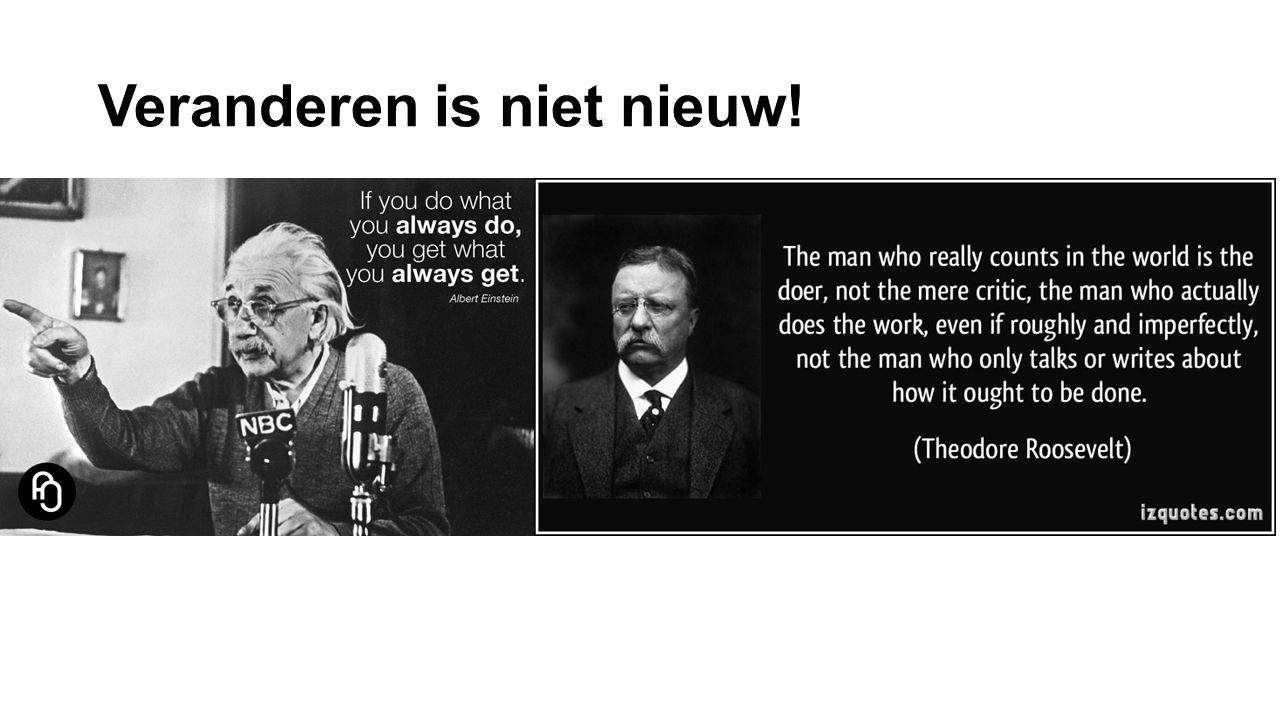 Veranderen is niet nieuw!
