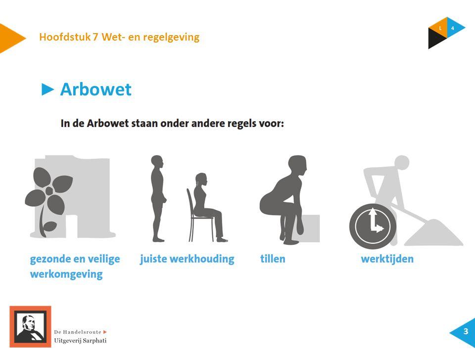 Hoofdstuk 7 Wet- en regelgeving 3 ► Arbowet
