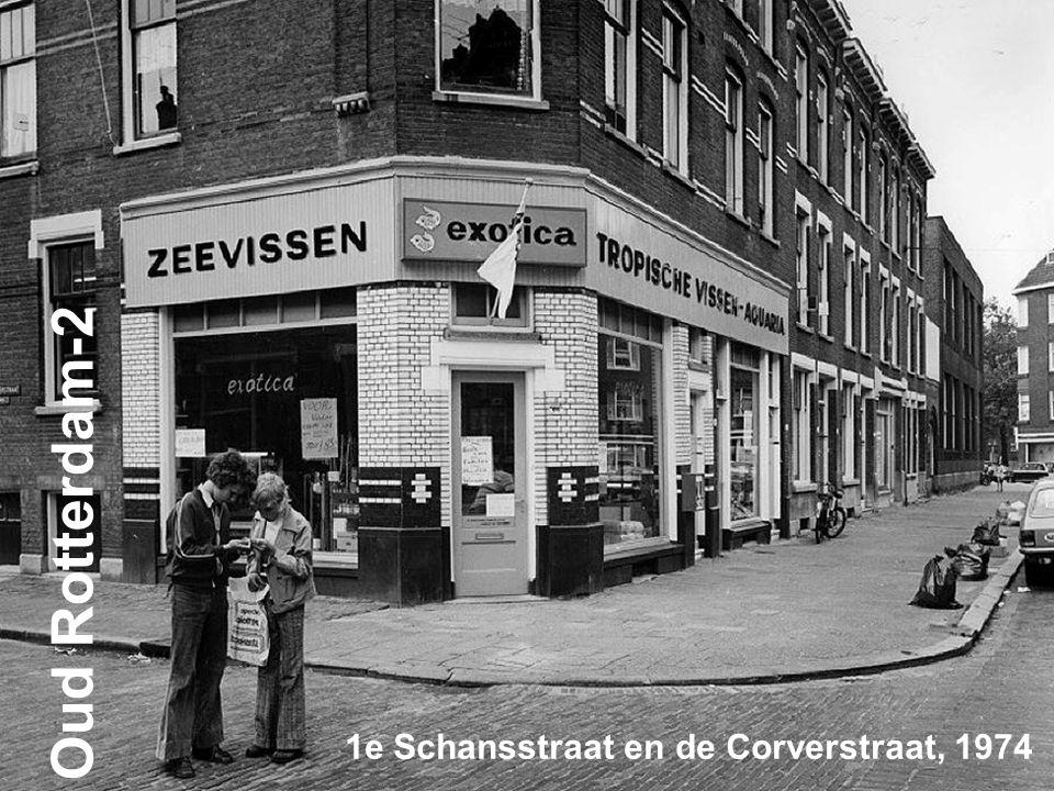 1e Schansstraat en de Corverstraat, 1974 Oud Rotterdam-2