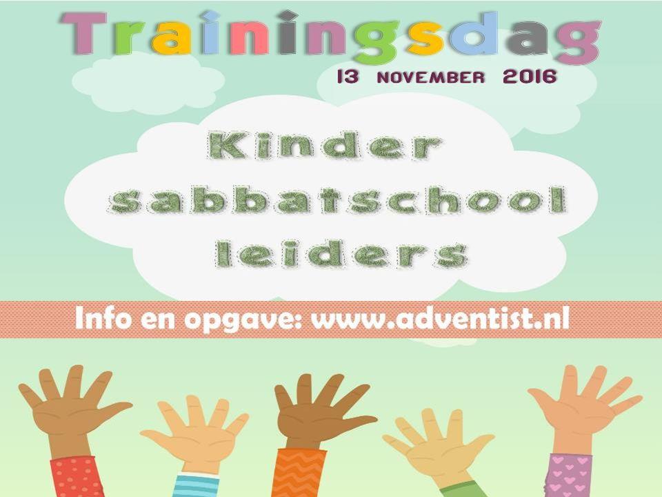 Iedere 1 e sabbat van de maand 14.30 – 21.30 uur Huis ter Heide Meld je aan: www.adventist.nl Iedere maand een bijeenkomst.