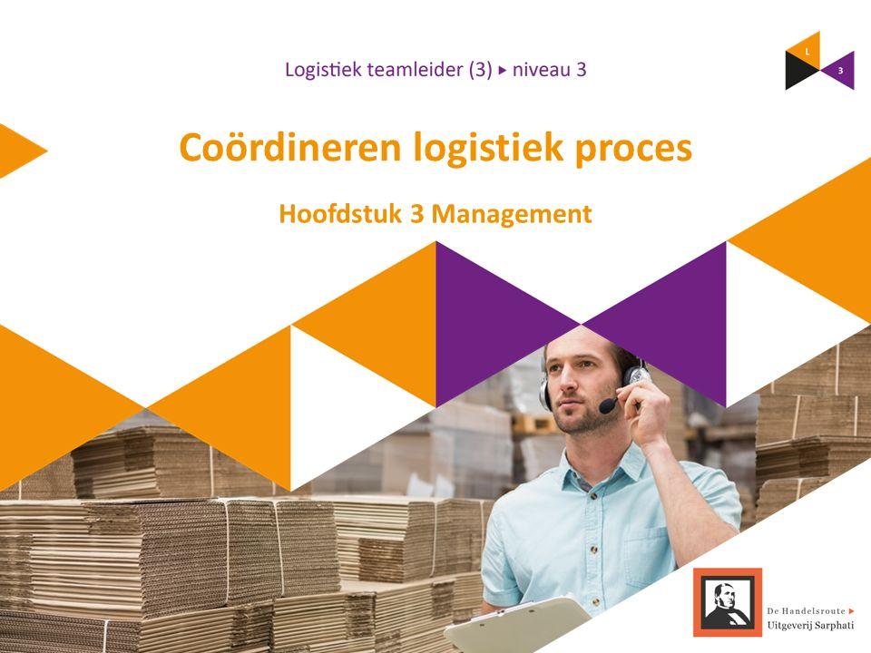 Coördineren logistiek proces Hoofdstuk 3 Management