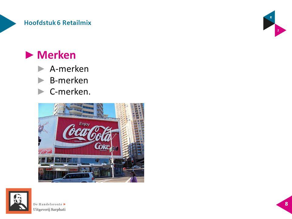 Hoofdstuk 6 Retailmix 9 ► Productkeuze voor een webshop ► De winkel en de webshop hebben hetzelfde assortiment.
