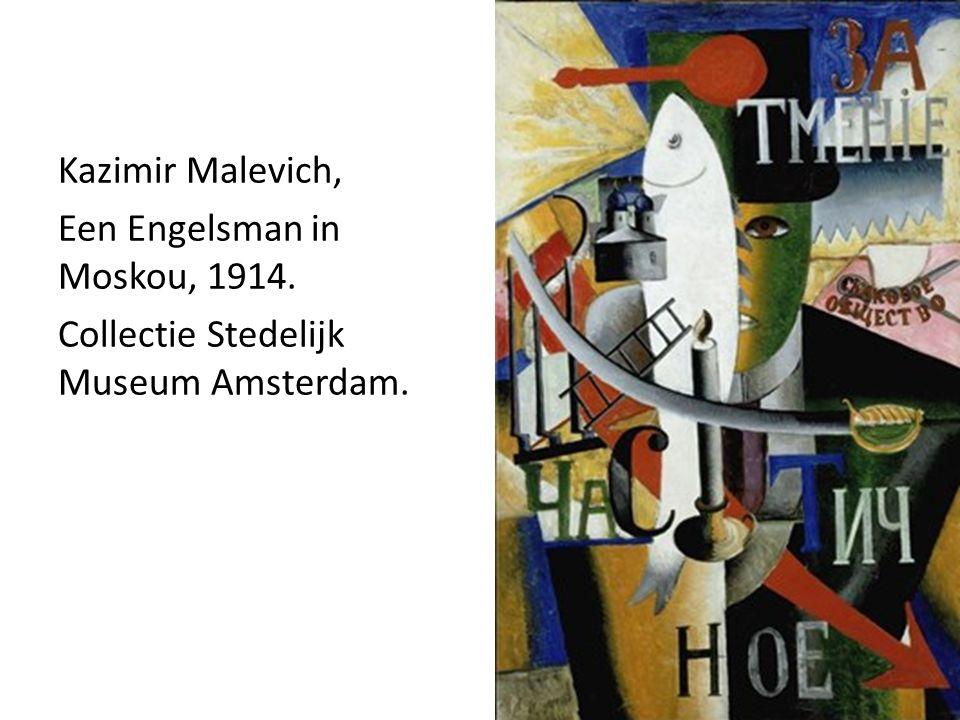 Kazimir Malevich, Een Engelsman in Moskou, 1914. Collectie Stedelijk Museum Amsterdam.