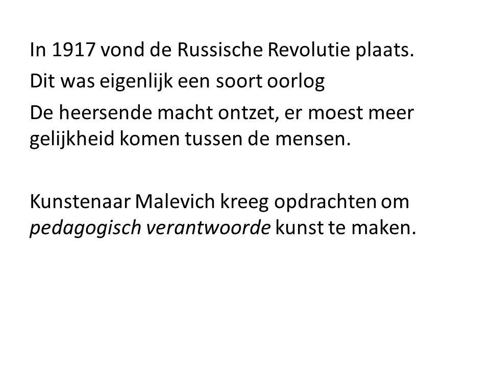 In 1917 vond de Russische Revolutie plaats.