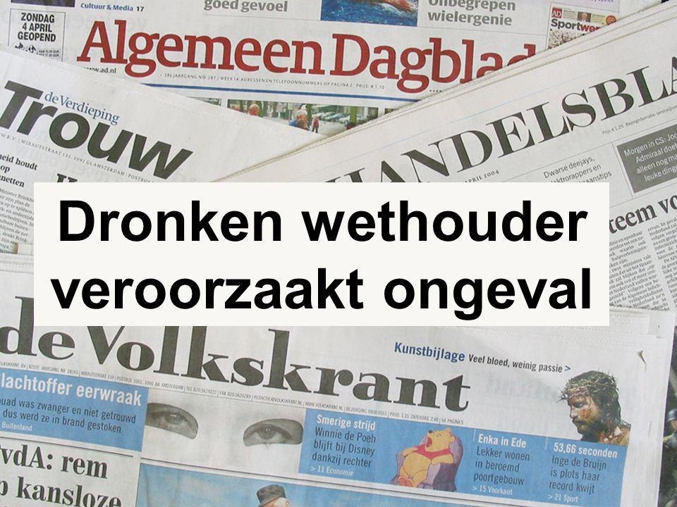 5 Dronken wethouder veroorzaakt ongeval