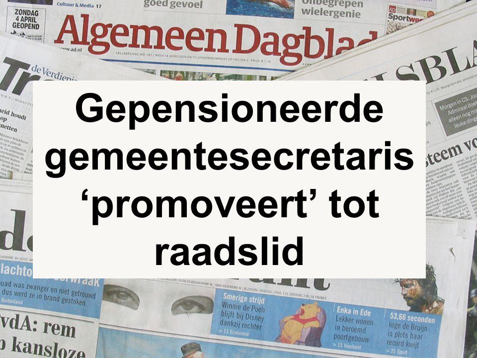 6 Gepensioneerde gemeentesecretaris 'promoveert' tot raadslid