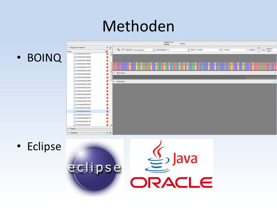 Methoden BOINQ Eclipse