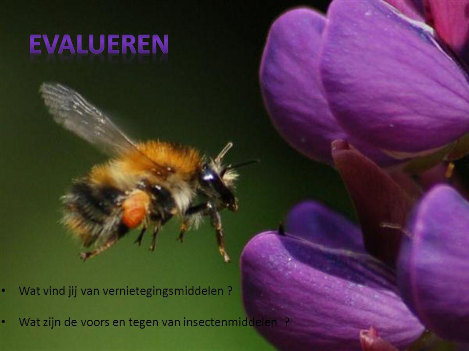 Wat vind jij van vernietegingsmiddelen Wat zijn de voors en tegen van insectenmiddelen