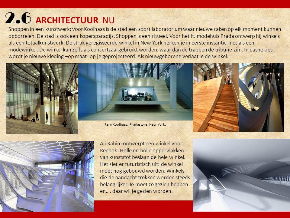 2.6 ARCHITECTUUR NU Ali Rahim ontwerpt een winkel voor Reebok. Holle en bolle oppervlakken van kunststof beslaan de hele winkel. Het ziet er futuristi