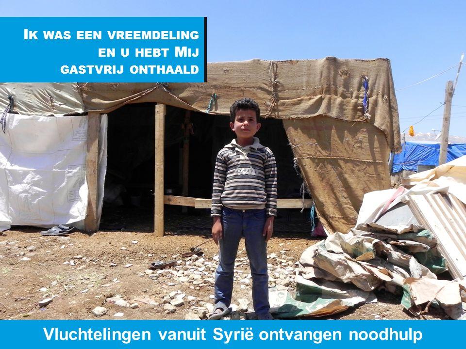 www.dorcas.nl I K WAS EEN VREEMDELING EN U HEBT M IJ GASTVRIJ ONTHAALD Vluchtelingen vanuit Syrië ontvangen noodhulp