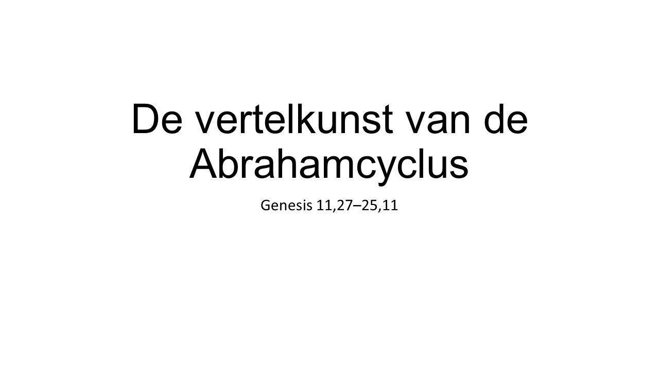 De vertelkunst van de Abrahamcyclus Genesis 11,27–25,11