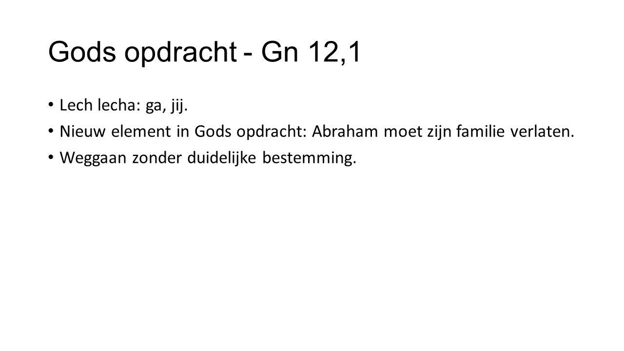 Gods opdracht - Gn 12,1 Lech lecha: ga, jij.