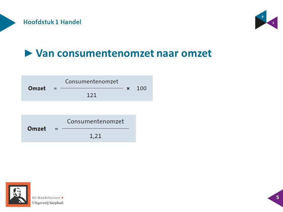 Hoofdstuk 1 Handel 5 ► Van consumentenomzet naar omzet