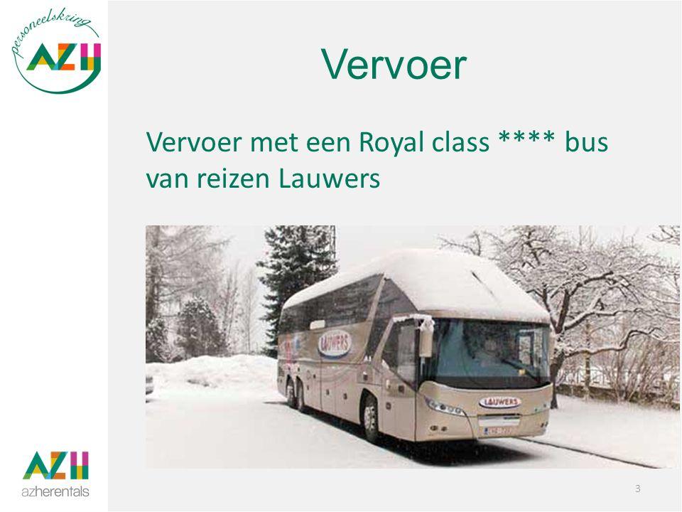 Vervoer Vervoer met een Royal class **** bus van reizen Lauwers 3
