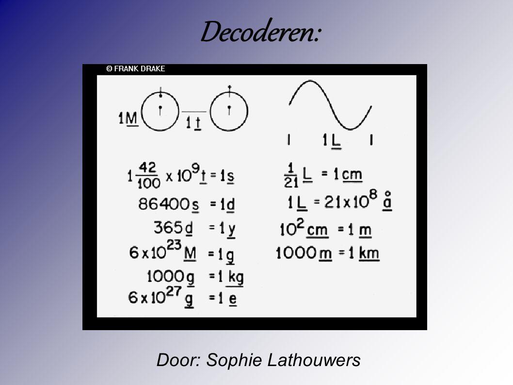 Door: Sophie Lathouwers Decoderen: