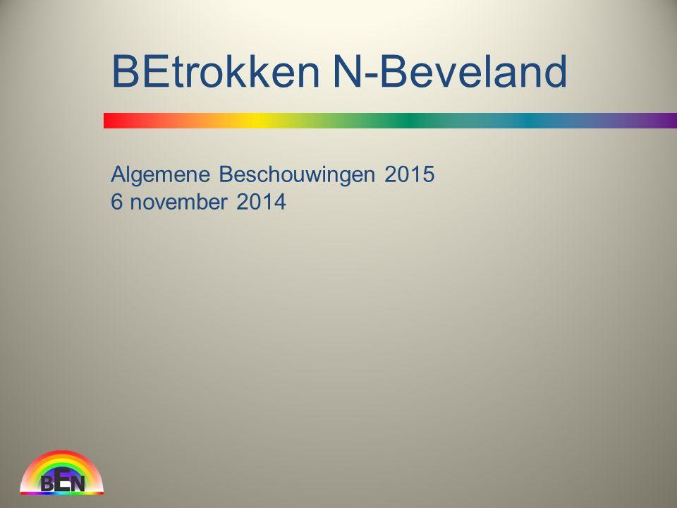 Algemene Beschouwingen 2015 6 november 2014 BEtrokken N-Beveland