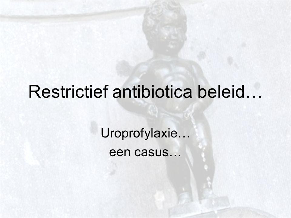 Restrictief antibiotica beleid… Uroprofylaxie… een casus…