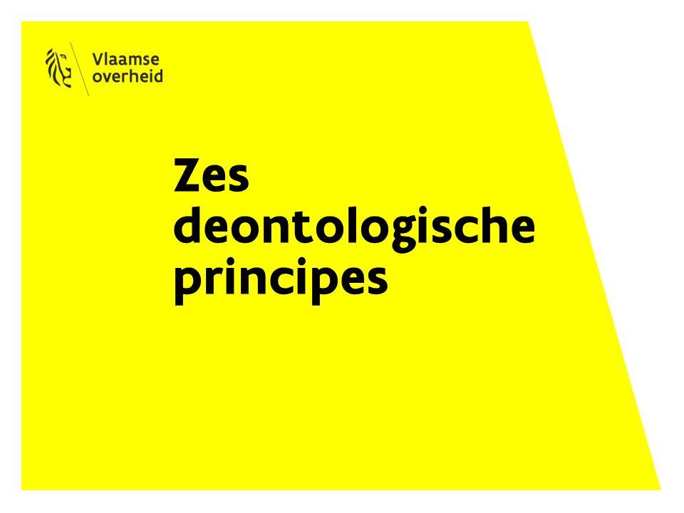 Zes deontologische principes