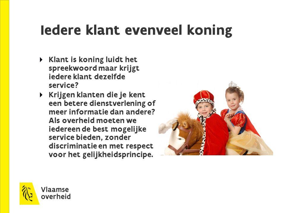 Iedere klant evenveel koning Klant is koning luidt het spreekwoord maar krijgt iedere klant dezelfde service.