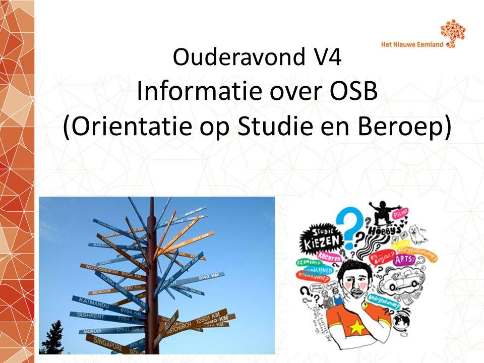 Ouderavond V4 Informatie over OSB (Orientatie op Studie en Beroep)