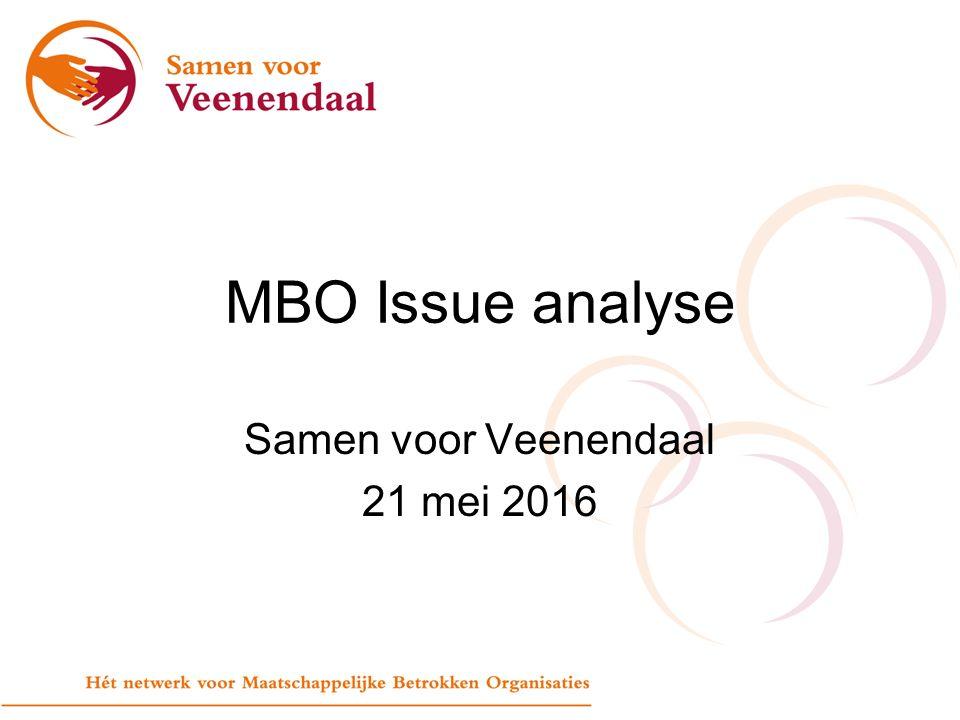 Samen voor Veenendaal 21 mei 2016 MBO Issue analyse
